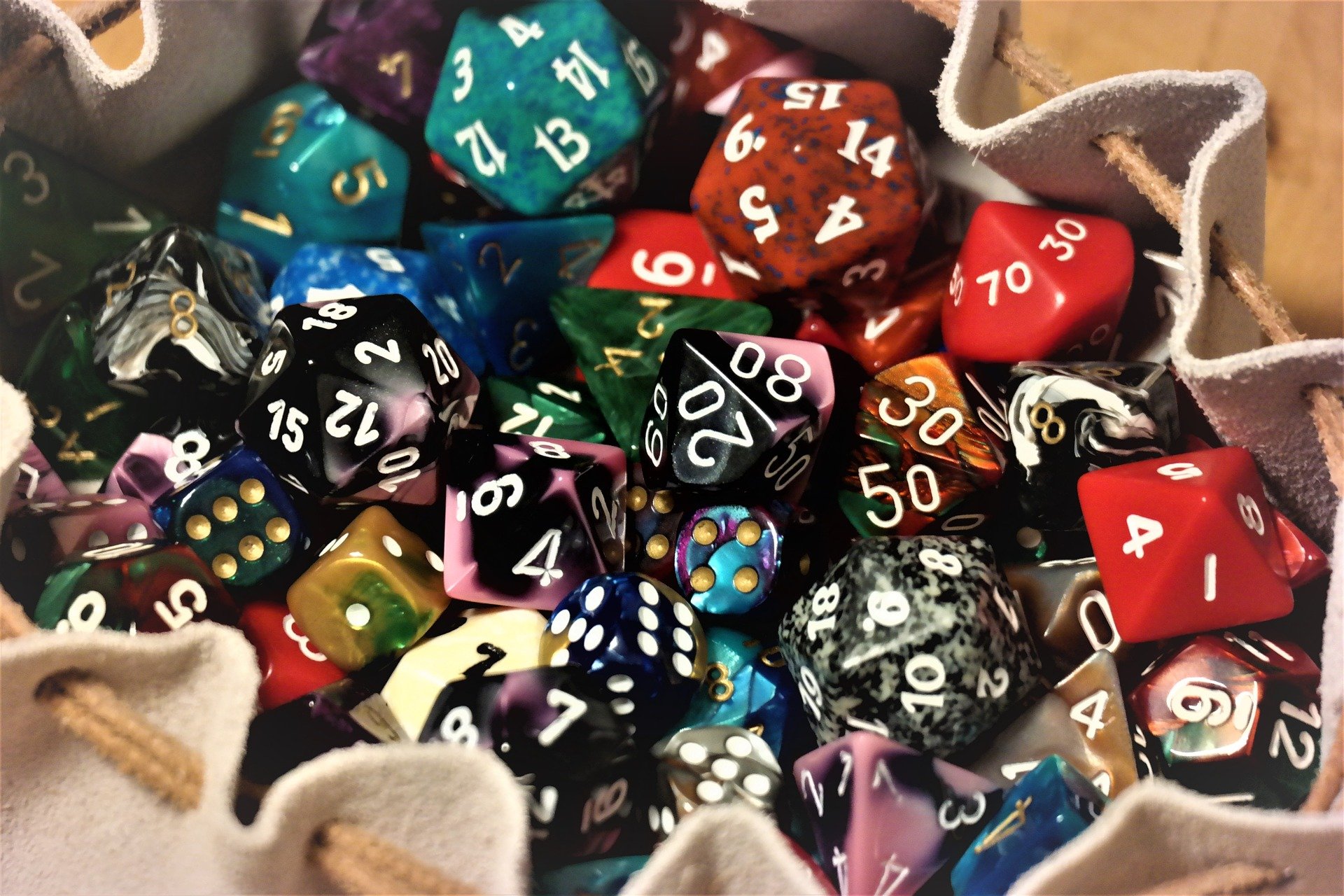 Dice in Dungeons & Dragons Fifth Edition.